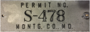 Montgomery County Permit number S-478