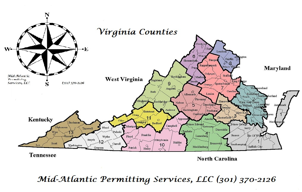 Virginia Counties- Mid-Atlantic Permitting Services, LLC